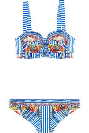 CAMILLA Crystal-embellished printed underwired bikini