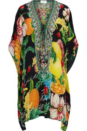 CAMILLA Call Me Carmen embellished printed silk crepe de chine kaftan