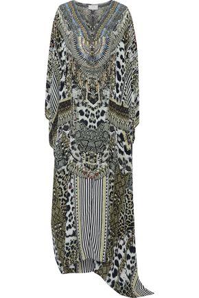 CAMILLA Leave Me Wild embellished silk kaftan