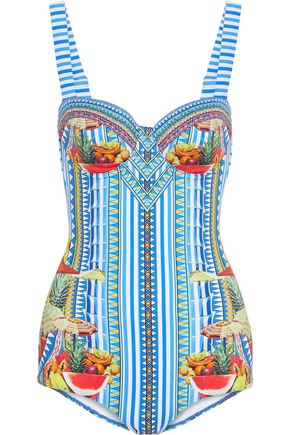 CAMILLA Book A Shade crystal-embellished printed swimsuit