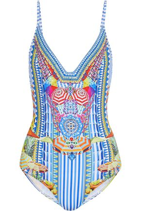 CAMILLA Ms Mochilla crystal-embellished printed swimsuit
