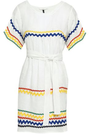LISA MARIE FERNANDEZ Rickrack-trimmed cotton-broderie anglaise mini dress