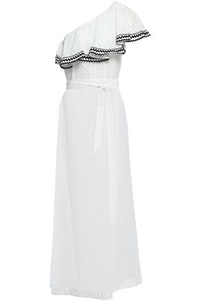 LISA MARIE FERNANDEZ One-shoulder cotton-broderie anglaise maxi dress