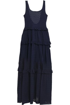 LISA MARIE FERNANDEZ Tiered cotton-broderie anglaise maxi dress