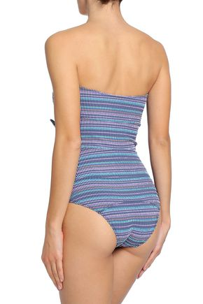LISA MARIE FERNANDEZ Tie-front checked swimsuit