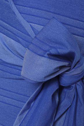 LISA MARIE FERNANDEZ Bow-detailed stretch-cotton wrap swimsuit