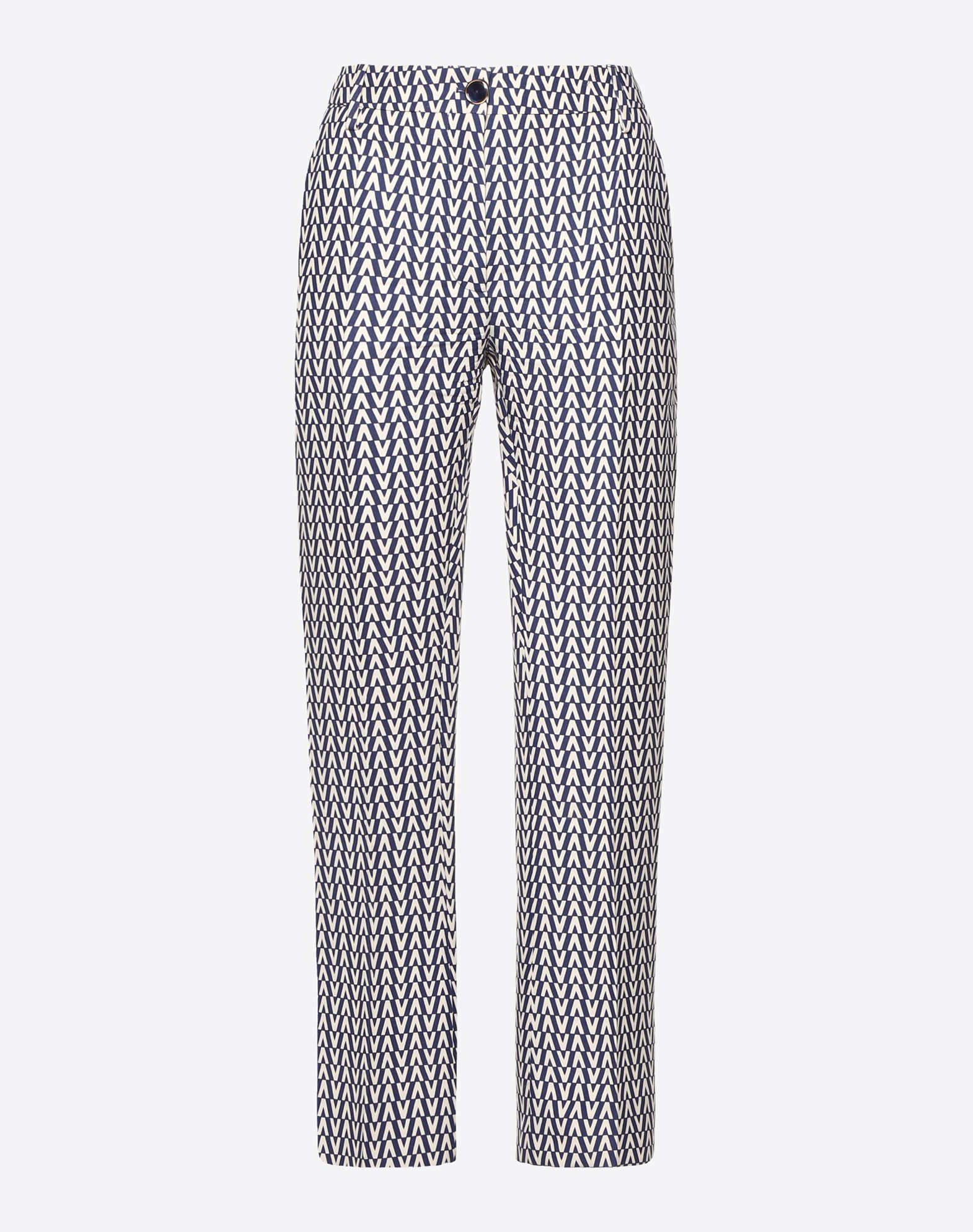 Optical Valentino Crêpe Couture Trousers