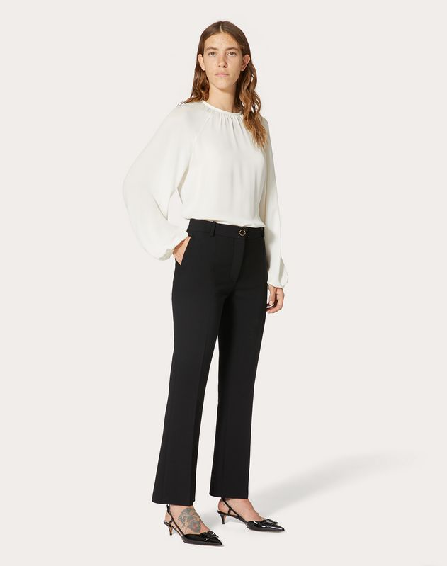 Pantalone in Double Comfort Crepe