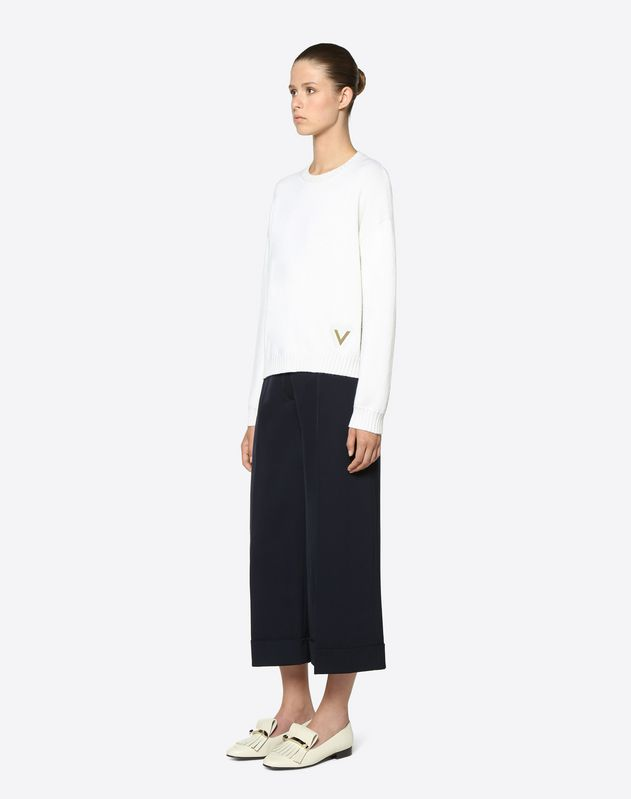 Stretch Wool Gabardine Trousers