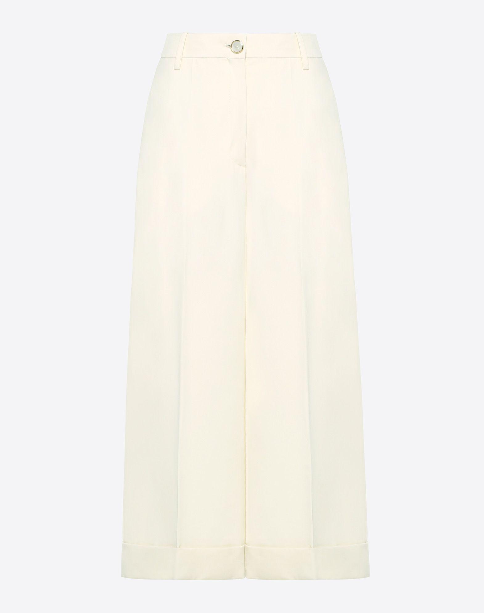 Stretch Wool Gabardine Trousers