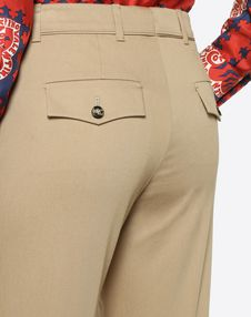Stretch Cotton Gabardine Pants