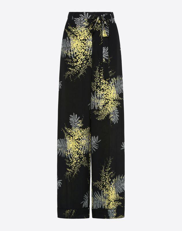 Pantalone in Crepe De Chine Mimosa