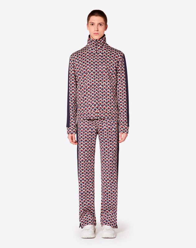 VALENTINO SCALE PRINT JERSEY PANTS