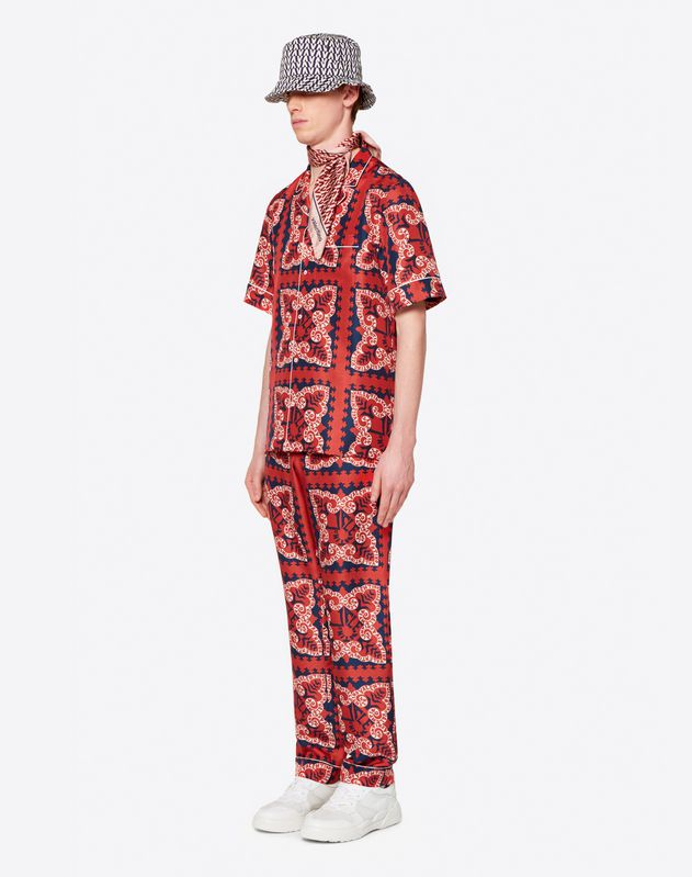 VALENTINO MINI BANDANA SILK PYJAMA TROUSERS