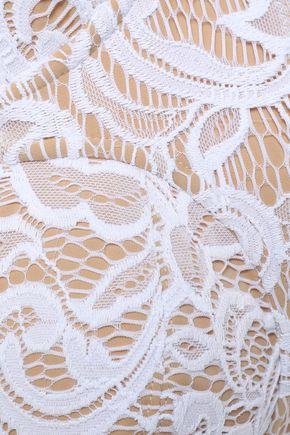NORMA KAMALI Stretch-lace underwired bikini top