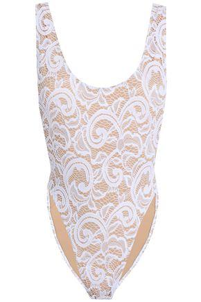 NORMA KAMALI Marissa stretch-lace swimsuit