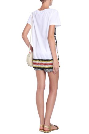 MISSONI MARE Crochet-paneled jersey top