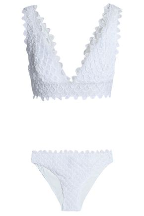 MISSONI MARE Scalloped crochet-knit bikini