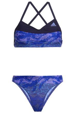 ADIDAS Printed halterneck bikini