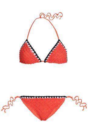 MISSONI MARE Crocheted triangle bikini