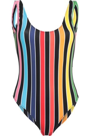 CAROLINE CONSTAS Striped swimsuit