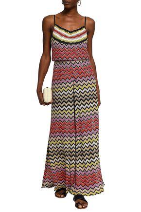 MISSONI MARE Metallic crochet-knit jumpsuit 09fb6ae18115