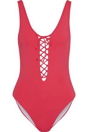 ONIA Bridget lace-up swimsuit