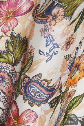 JETS AUSTRALIA by JESSIKA ALLEN Cold-shoulder floral-print voile dress
