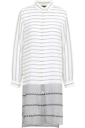 VIX PAULA HERMANNY Striped cotton-gauze coverup