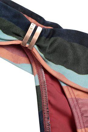 VIX PAULA HERMANNY Bonaire striped low-rise bikini briefs