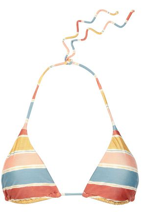 VIX PAULA HERMANNY Striped triangle bikini top