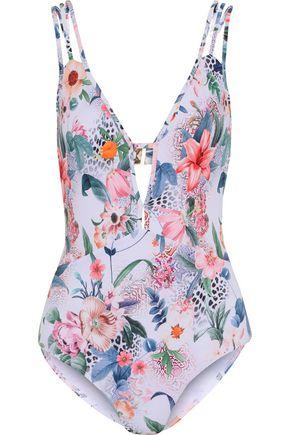 JETS AUSTRALIA by JESSIKA ALLEN Cutout floral-print swimsuit