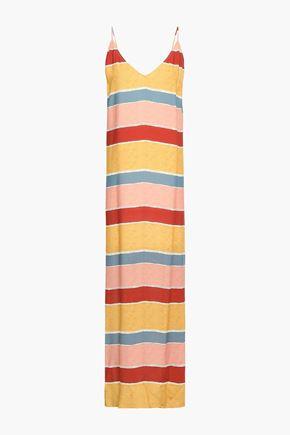 VIX PAULA HERMANNY Guadalupe Milos striped woven maxi dress