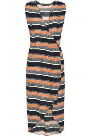 JETS AUSTRALIA by JESSIKA ALLEN Saona Gisele wrap-effect striped woven dress