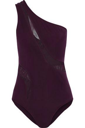 JETS AUSTRALIA by JESSIKA ALLEN One-shoulder mesh-paneled swimsuit
