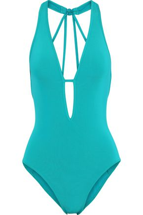 JETS AUSTRALIA by JESSIKA ALLEN Cutout halterneck swimsuit