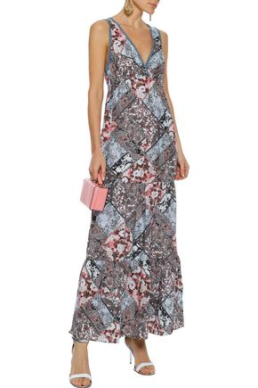 JETS AUSTRALIA by JESSIKA ALLEN Crochet-trimmed printed voile maxi dress