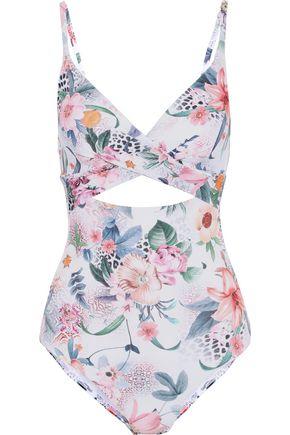 JETS AUSTRALIA by JESSIKA ALLEN Twist-front cutout floral-print swimsuit