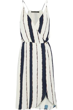 JETS AUSTRALIA by JESSIKA ALLEN Wrap-effect printed voile dress