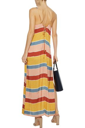 VIX PAULA HERMANNY Striped voile maxi dress