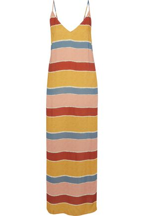 JETS AUSTRALIA by JESSIKA ALLEN Striped voile maxi dress