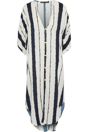 VIX PAULA HERMANNY Isla Braid striped voile kaftan