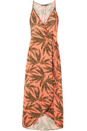VIX PAULA HERMANNY Printed woven midi wrap dress
