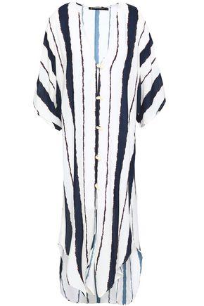 VIX PAULA HERMANNY Isla striped voile kaftan