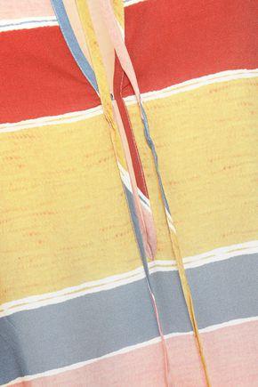 VIX PAULA HERMANNY Guadalupe striped voile kaftan