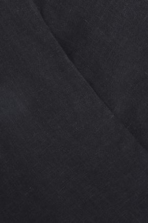 VIX PAULA HERMANNY Wrap-effect linen-blend beach top
