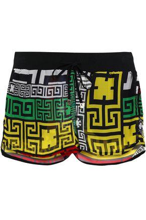 VERSACE Printed silk-chiffon shorts