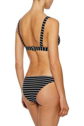 ALIX Collins striped low-rise bikini briefs