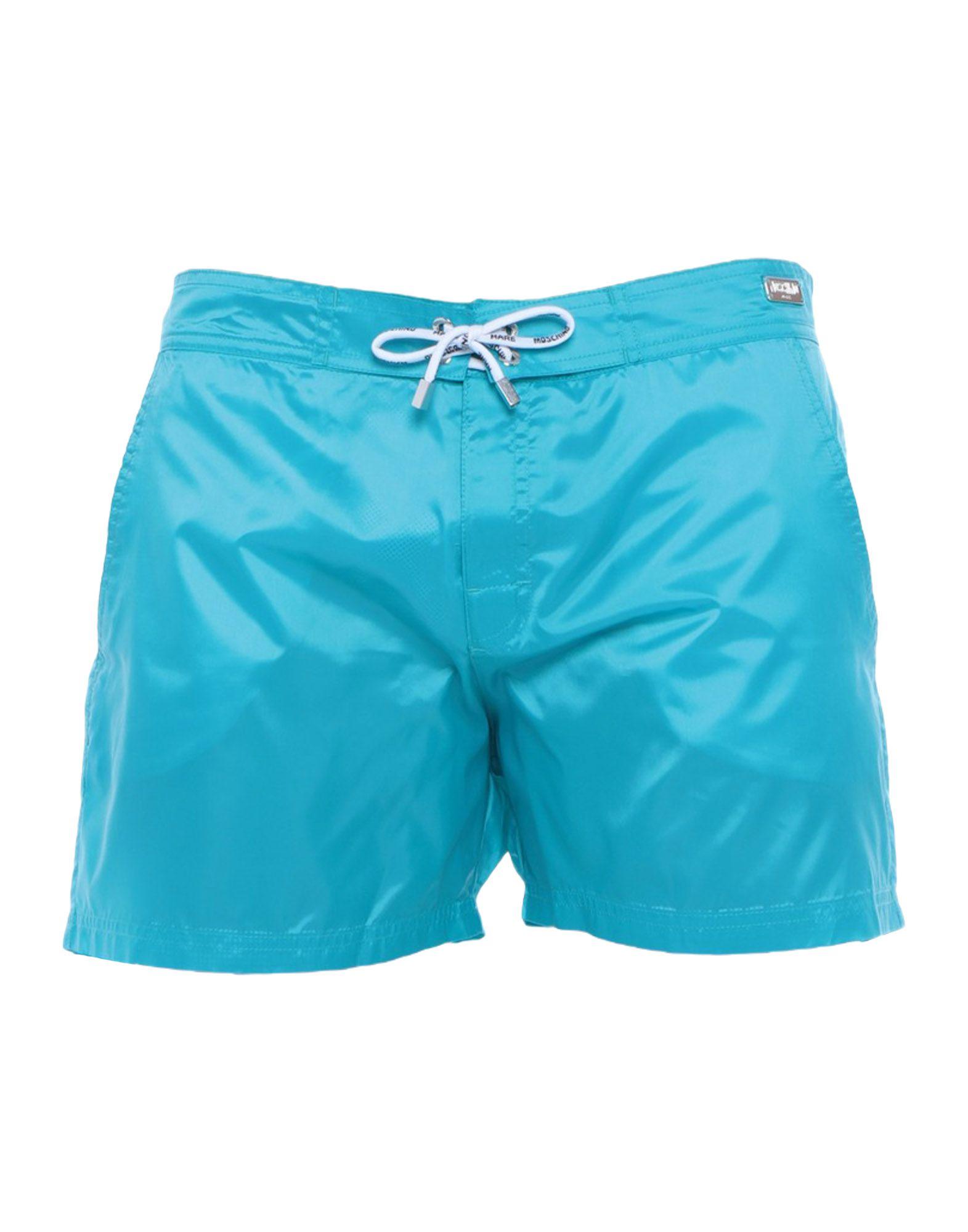 《セール開催中》MOSCHINO メンズ 水着(ボクサーパンツ) ターコイズブルー 52 ナイロン 100%