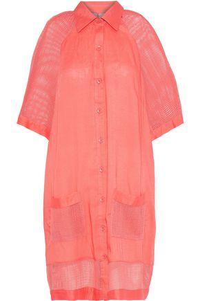 JETS AUSTRALIA by JESSIKA ALLEN Mesh-paneled modal-voile shirt dress